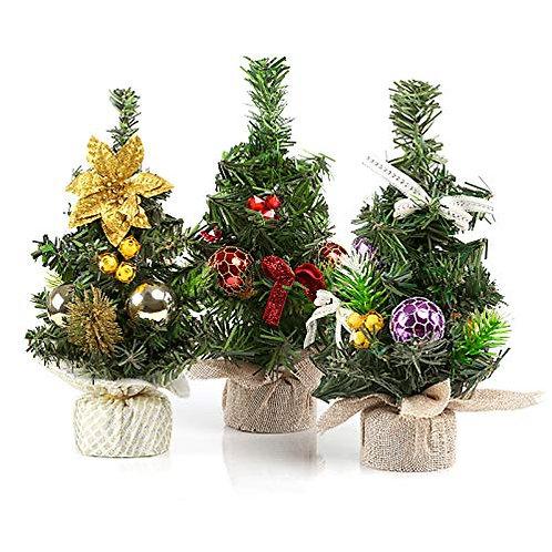 Kesote Set of 3 Artificial Christmas Tree Mini Christmas Tree for Home, Shop, Of