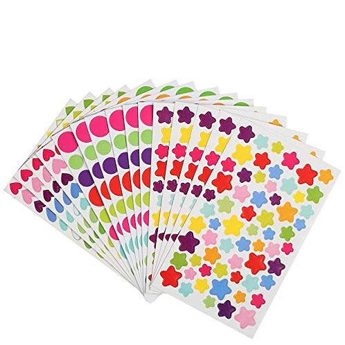 Kesote Reward Stickers Sheets Craft Stickers 72 Sheets Adhesive Stickers in Dot,