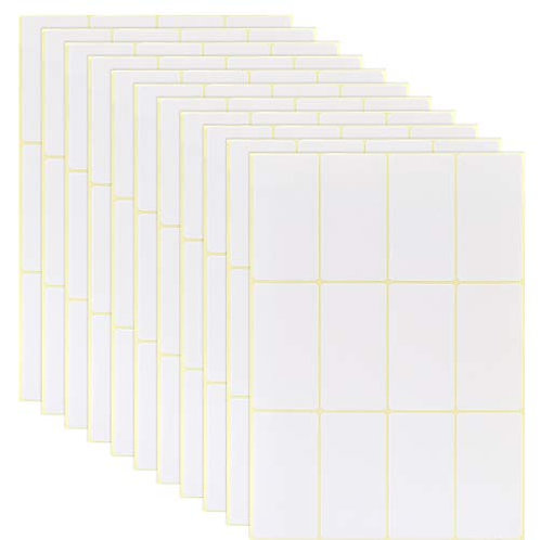 Kesote 90 Sheets Self Adhesive Address Mailing Label Stickers, White Name Label