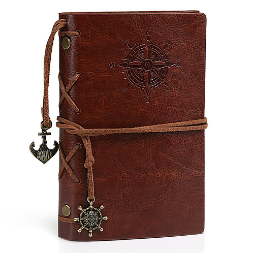 Kesote Leather Journal Writing Notebook, Antique Classic Vintage Refillable Trav