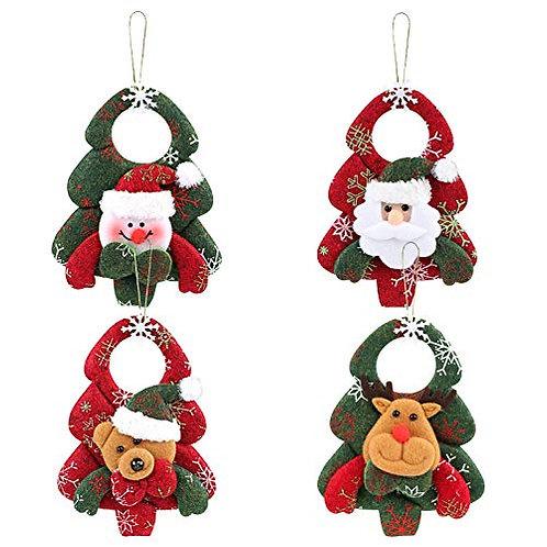Kesote Set of 4 Christmas Tree Ornaments Christmas Tree Hanging Accessories Chr