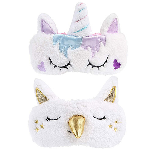 Kesote 2 Pieces Sleep Mask Cute Unicorn Horn Cover Suitable for Women, Men, Gold