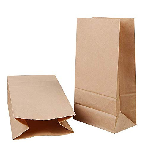 Kesote 48 Pieces Kraft Paper Bags and 48 Xmas Sealing Stickers, Candy Bags for X