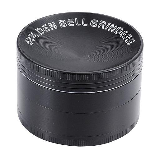 """[New Released] Spices Herb Grinder 4 Piece 2.36 """" Golden Bell Grinder -Black"""