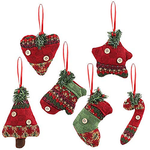 Kesote Set of 6 Christmas Tree Ornaments Christmas Tree Hanging Accessories of D