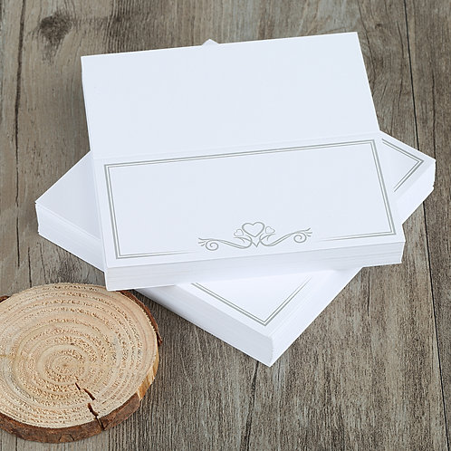 Kesote 100 Pieces White Table Cards Name Place Cards DIY Name Card for Wedding E