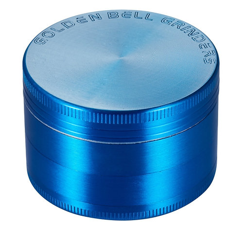 "Golden Bell 4 Piece 2"" Spice Herb Grinder - Blue"