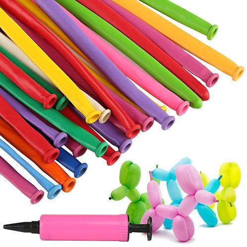 Kesote 200 Pieces Multicolor Long Balloons , Magic Latex Balloon for Kids Birthd