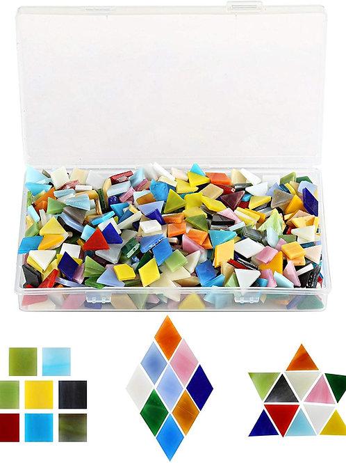 Kesote 600pcs Mixed Color Mosaic Tiles Multicolored Mosaic Glass Cabochons