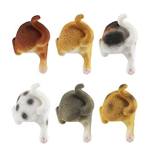 Kesote Cat Dog Butt Magnets, Set of 6