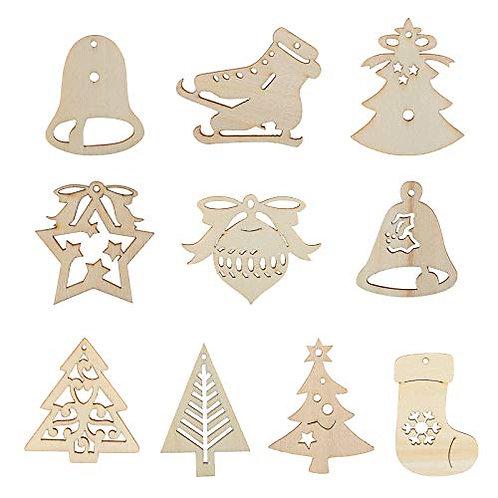 Kesote Set of 30 Wooden Pendants for Christmas Tree Christmas Tree Ornaments, 21