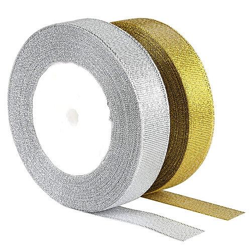 Kesote Organza Ribbon, 25 Yard 20mm Wide Glitter Trimmings Decorative Ribbons fo