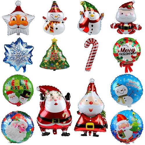 Kesote 14 PCS Xmas Aluminum Foil Balloons,Santa Claus, Xmas Tree, Crutch, Star,
