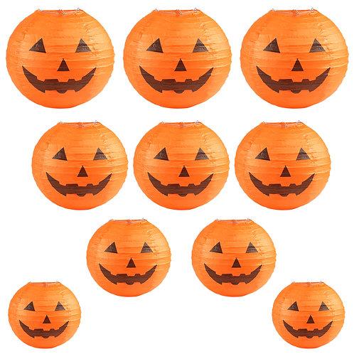 Kesote Halloween Paper Lantern Set, 10 PCS Lanterns with Pumpkin Design, Lanter