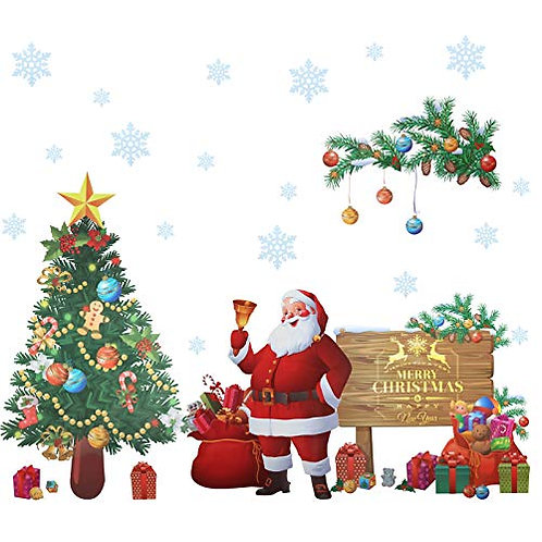 Kesote Christmas Wall Stickers Santa Claus Stickers Christmas Decoration for Hom
