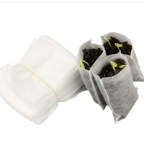 Kesote 200 Pcs Non-woven Biodegradable Nursery Bags Plant Grow Bags Nursing Rais