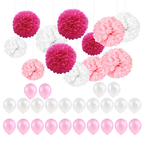 Kesote Party Decoration Supplies Reusable Party Decorations with 12 x Tissue Pap