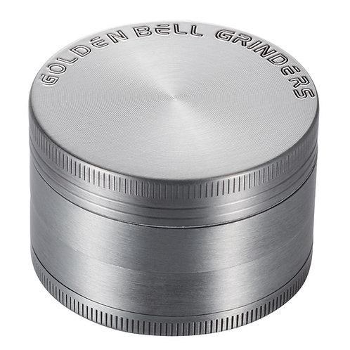"Golden Bell 4 Piece 2"" Spice Herb Grinder - Ancient Silver"