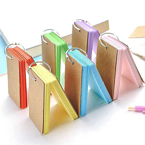 Kesote Multicolor Word Cards Sturdy Cards Note Pads, Memory Word Cards with Meta