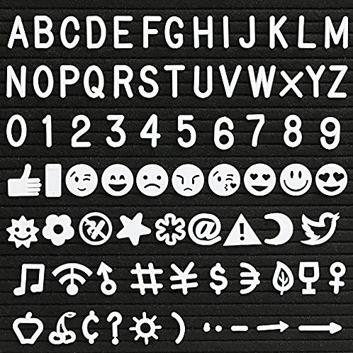 Kesote Characters for Felt Letter Board-- 190 Piece Numbers, Symbols, Alphabets