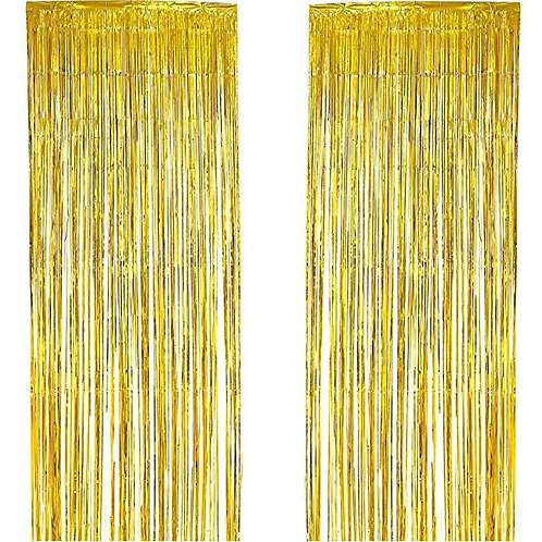 Kesote 4 Pack Metallic Tinsel Curtains, Foil Fringe Shimmer Curtain Glitter Curt