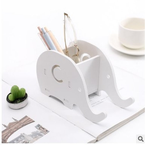 Kesote Cell Phone Stand, Wood Elephant Pencil Holder with Phone Holder Animal D
