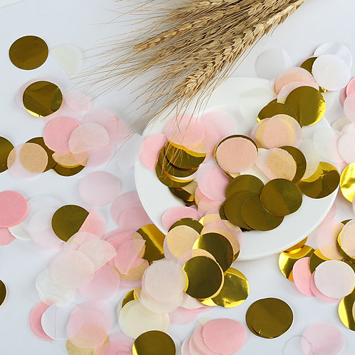 Kesote 1 Inch Paper Confetti Round Tissue Confetti Party Circle Paper Table Con