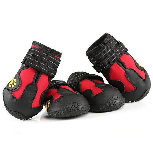 Kesote Dog Boots, Pack of 4 Durable Protector with Anti-Slip Rubber Soles Water