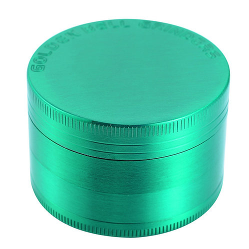 "Golden Bell 4 Piece 2"" Spice Herb Grinder - Green"
