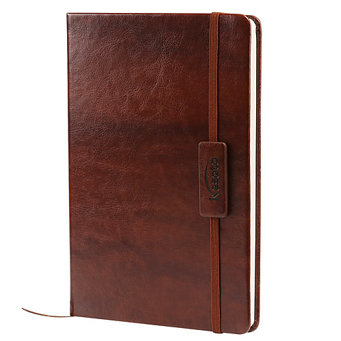 Kesote A5 Classic Ruled Leather Hardcover Writing Notebook Journal Diary with El