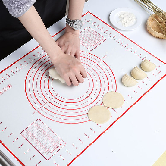 GWHOLE Large Silicone Baking Mat Non Stick Dough Mat with Measurement