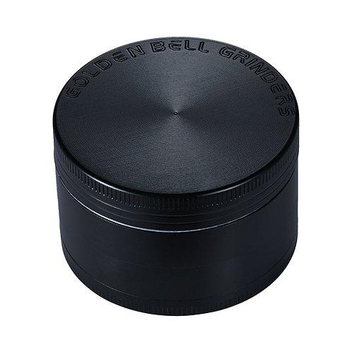 Golden Bell 4 Piece Spice Herb Grinder, 2-Inch - Black