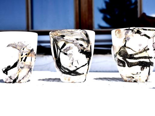 DIY - Marmorierte Tassen mit Nagellack #süsseGeschenksidee