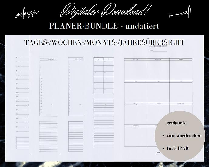 Digitaler Download - PLANER-BUNDLE classic/undatiert