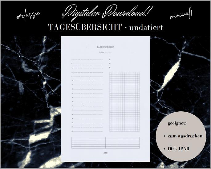 Digitaler Download - TAGESÜBERSICHT classic/undatiert