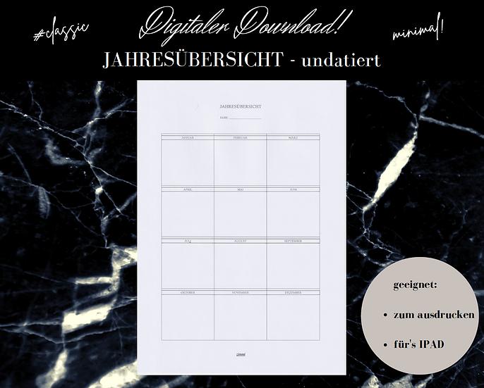 Digitaler Download -JAHRESÜBERSICHT classic/undatiert