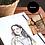 Thumbnail: Benutzerdefinierte Haustiere für Wand Gallery, Portrait, Paar, Aquarell