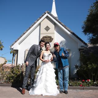 ラスベガスでの前撮り、挙式、フォトウエディング