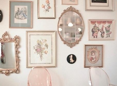 Molduras vintage na decoração