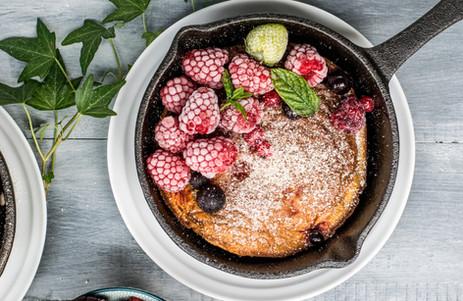 Frambozen pannenkoek