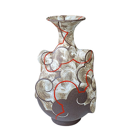 Cloud Pear Vase // Red