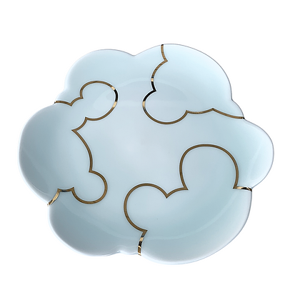Celadon Cloud Plate / LARGE // Gold #1