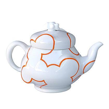 Cloud Teapot // Bright Orange