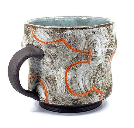 Cloud Mug // Stoneware + Bright Orange / #13