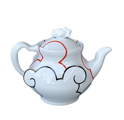 Cloud Teapot // Dark Orange + Black