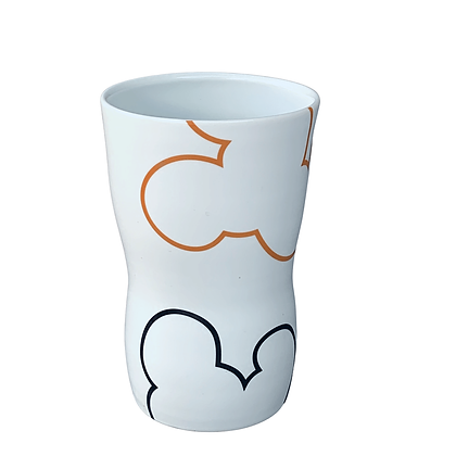 Cloud Tumbler // Orange+Black / # 51