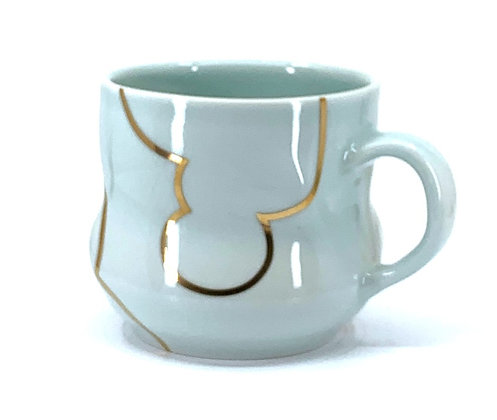 Celadon Cloud Mug // Gold # 36