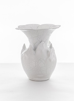 Crackle Flared Vase
