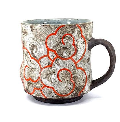 Cloud Mug // Stoneware + Orange / #6