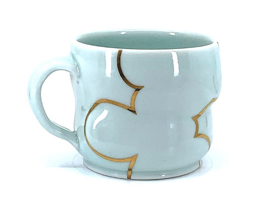 Celadon Cloud Mug // Gold # 38